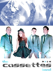 """<br><br/>With a repertoire bursting with popular hits from the '60s right through to the present day, using state-of-the-art equipment, this professional, talented and passionate group's outstanding, energetic performances make for unforgettable wedding receptions!<br/><br><br/><br><br/>Read The Cassettes <a href=""""http://www.wedding-music-secret.com/the-cassettes-providing-the-perfect-soundtrack-to-your-wedding-reception-6548"""" target=""""_blank"""">Featured Post </a>"""
